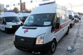 При столкновении двух иномарок в Петербурге погиб пешеход