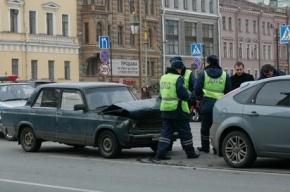 На Невском проспекте произошло массовое ДТП