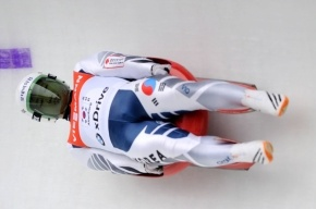 Хорева стала чемпионкой Европы в рамках соревнования по санному спорту