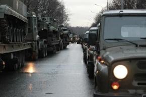 Иномарка протаранила военную колонну в Ленобласти, водитель погиб