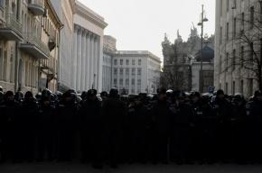 Милиция в Киеве сломала катапульту демонстрантов