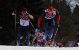Лыжные гонки, масс-старт свободным стилем, 50 км, мужчины: Фоторепортаж