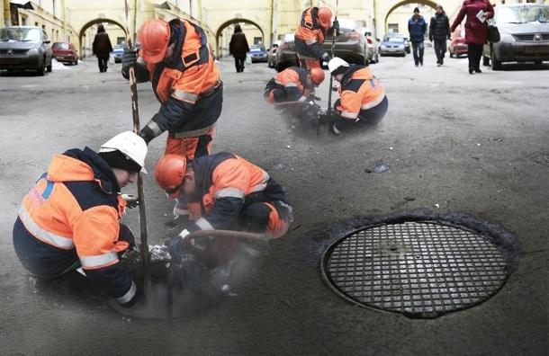 На Галерной улице канализационные стоки откачивают