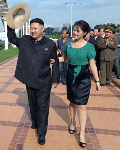 Ким Чен Ын и его жена: Фото