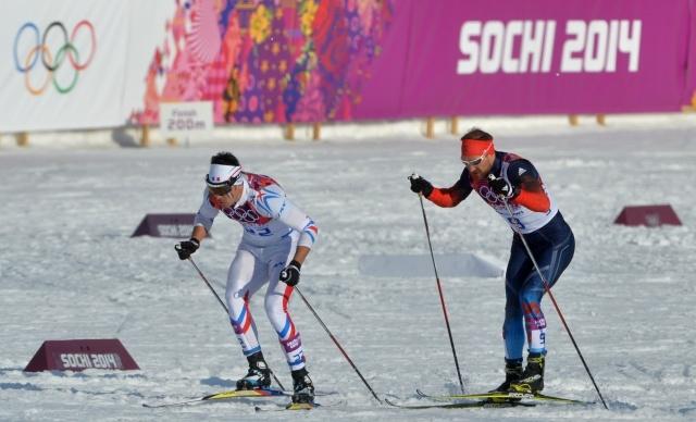 Российские лыжники в мужском спринте: Фото