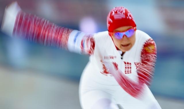 Скоростной бег на коньках, женщины 5000 м, Анна Чернова и Ольга Граф: Фото