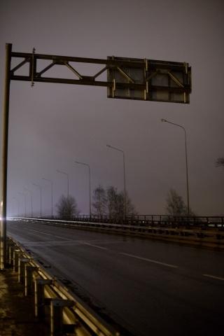 Тьма на Пискаревском путепроводе: Фото
