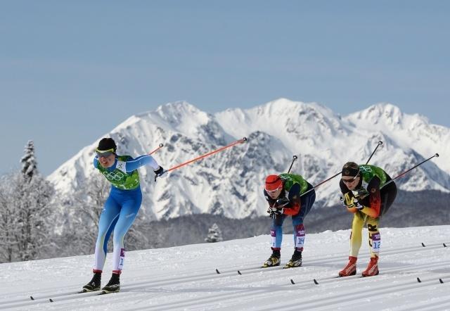Командный спринт, лыжные гонки, женщины: Фото