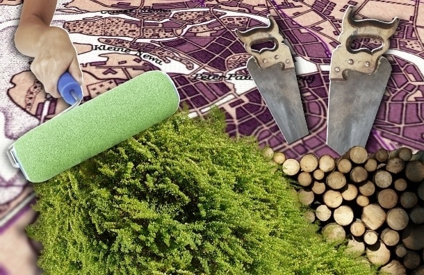 Инфографика: как Петербург терял парки, скверы и газоны в последние два года