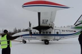 Самолет из Петербурга выкатился за пределы полосы в аэропорту Инты
