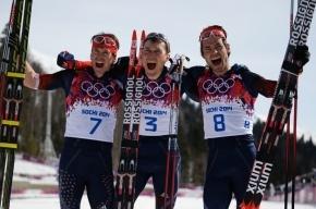 Лыжные гонки, масс-старт свободным стилем, 50 км, мужчины: россияне заняли весь пьедестал!