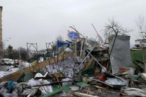 В Броварах и Житомире протестующие снесли памятники Ленину