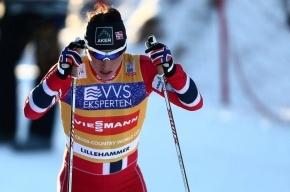 Норвежка Марит Бьорген выиграла золото Олимпиады в скиатлоне