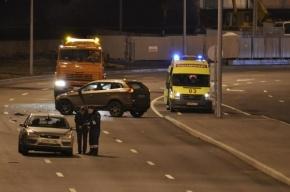 На трассе под Петербургом женщину сбили четыре машины