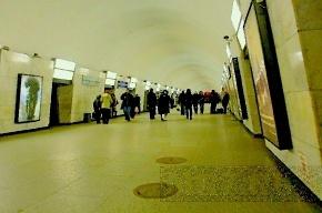 В метро Петербурга трем поездам оторвало зеркала станционными дверями