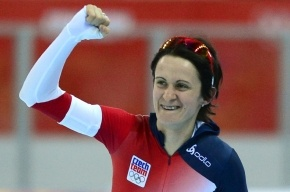 Скоростной бег на коньках, женщины 5000 м: Мартина Сабликова из Чехии выиграла «золото»