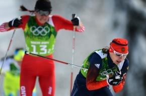 Командный спринт, лыжные гонки, женщины: Норвегия первая, Россия шестая