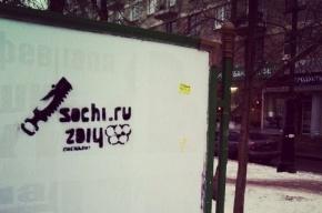 В Петербурге появились граффити, посвященные «распилу» в Сочи