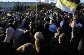 В Петербурге на митинге задержаны двое помощников Милонова