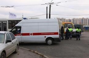 «Скорая помощь» попала в массовое ДТП на Ленинском проспекте