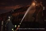 Фоторепортаж: «Пожар в ангаре «Белстроя» на Хрустальной улице потушили »