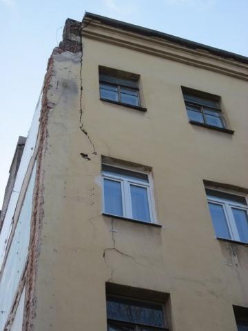 Трещины домов в Московском районе: Фото