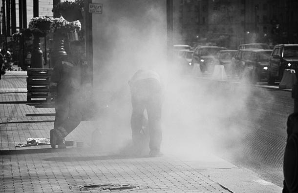 В центре Петербурга пыли и грязи в четыре раза больше, чем положено