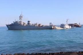 В Крыму взяли штурмом украинский корабль