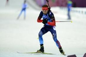 Биатлонист Антон Шипулин завоевал серебро в спринте на Кубке мира