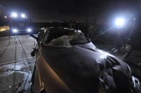 На КАД столкнулись два Chevrolet и фургон, есть пострадавшие