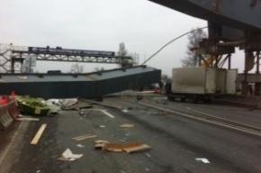 На Московском шоссе упавшая балка убила автомобилиста