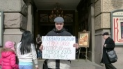 Фоторепортаж: «В субботу на Невском открылся «Музей вандализма под открытым небом» »