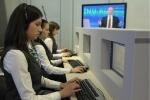 Фоторепортаж: «Прямая линия с Путиным, 17 апреля 2014»
