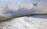 Третий за день прорыв теплотрассы произошел в Петербурге : Фоторепортаж