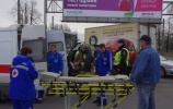 В массовом ДТП с автобусом на Пискаревском пострадали три человека : Фоторепортаж