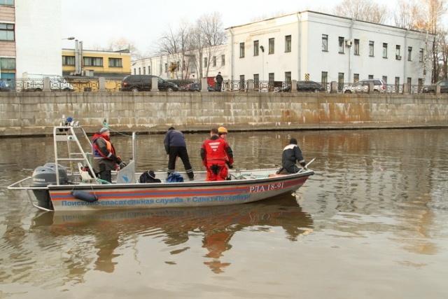 В Петербурге в реку Мойку упал автомобиль с девушкой за рулем : Фото