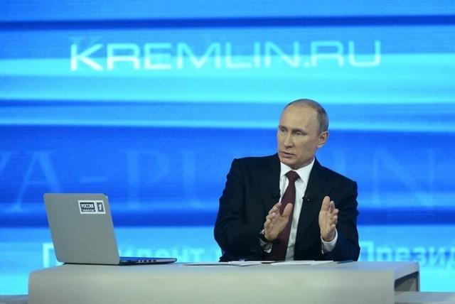 Прямая линия с Путиным, 17 апреля 2014: Фото