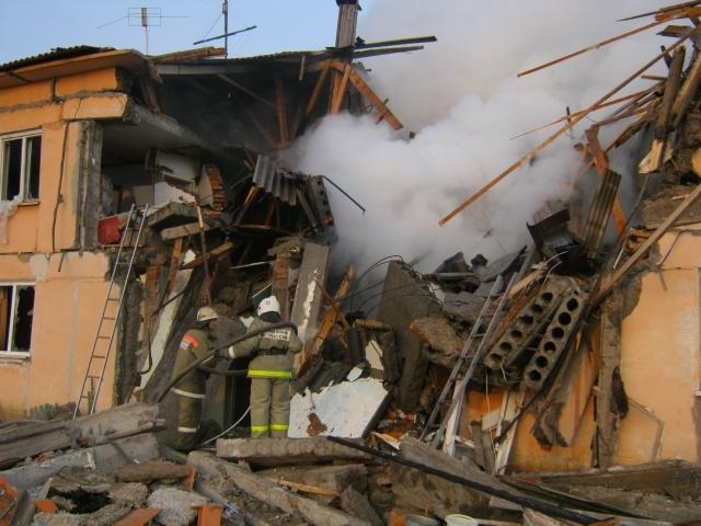 В Омской области в жилом доме произошел взрыв газа. : Фото