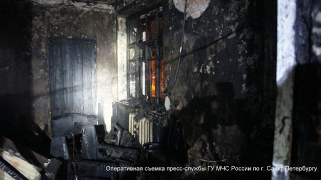 В пожаре на улице Бабушкина погибли два человека : Фото