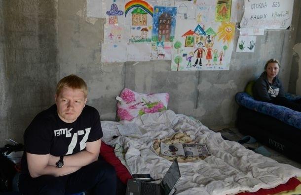 Голодающие дольщики «Охта-Модерн» намерены добиваться встречи с Полтавченко