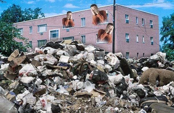 Неуловимые хулиганы превращают поселок Понтонный в свалку строительного мусора