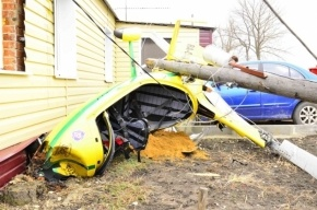 Под Липецком вертолет вице-мэра упал на частный дом