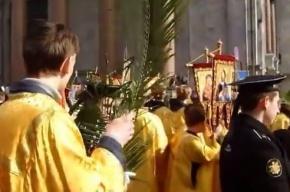 В Вербное воскресенье прошел крестный ход с участием 15 тысяч человек