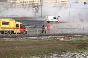 Третий за день прорыв теплотрассы произошел в Петербурге