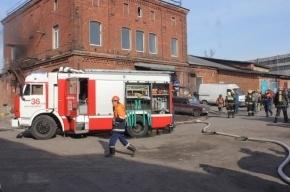 В Петербурге горел корпус завода «Балтийская бумага»