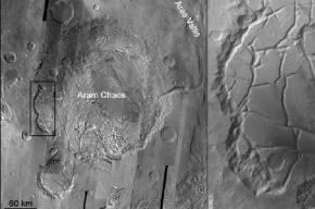 Ученые нашли следы озера жидкой воды на Марсе