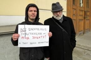 В Петербурге проходит пикет в защиту блокадных подстанций