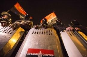 В штабе «Правого сектора» в гостинице «Днепр» силовики нашли оружие