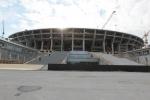 Премьер Медведев посетил строящийся стадион «Зенит» : Фоторепортаж