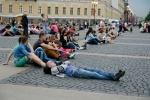 Оперные певцы выступили для петербуржцев на Дворцовой площади 25 мая 2014 : Фоторепортаж